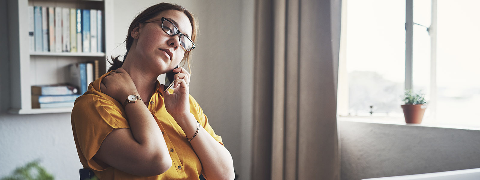 Image of woman on phone